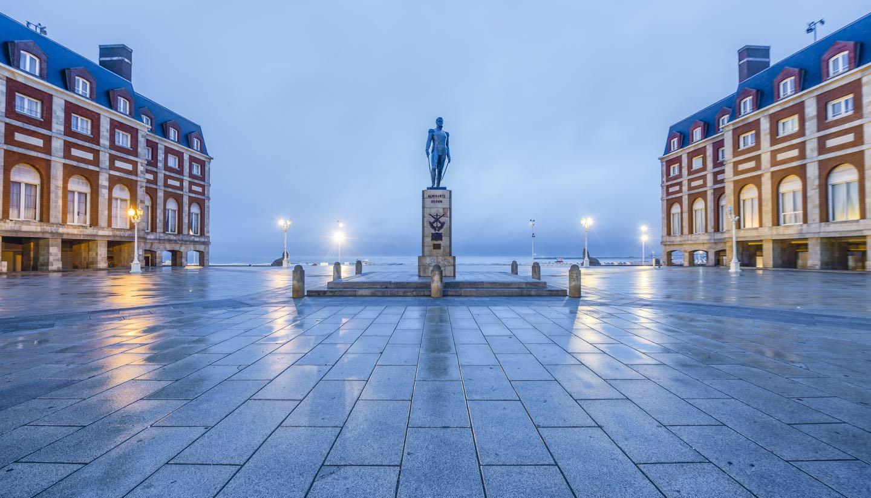 Buenos Aires - Almirante Brown Square in Mar del Plata, Argentina