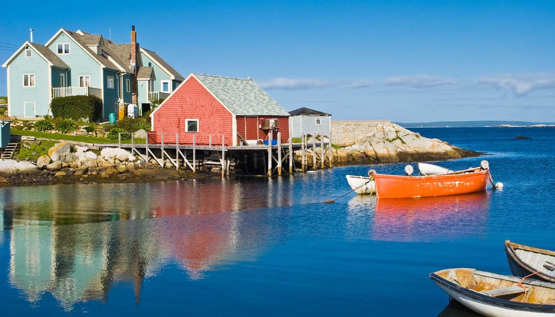 Nova Scotia - Fisherman's house and boats.