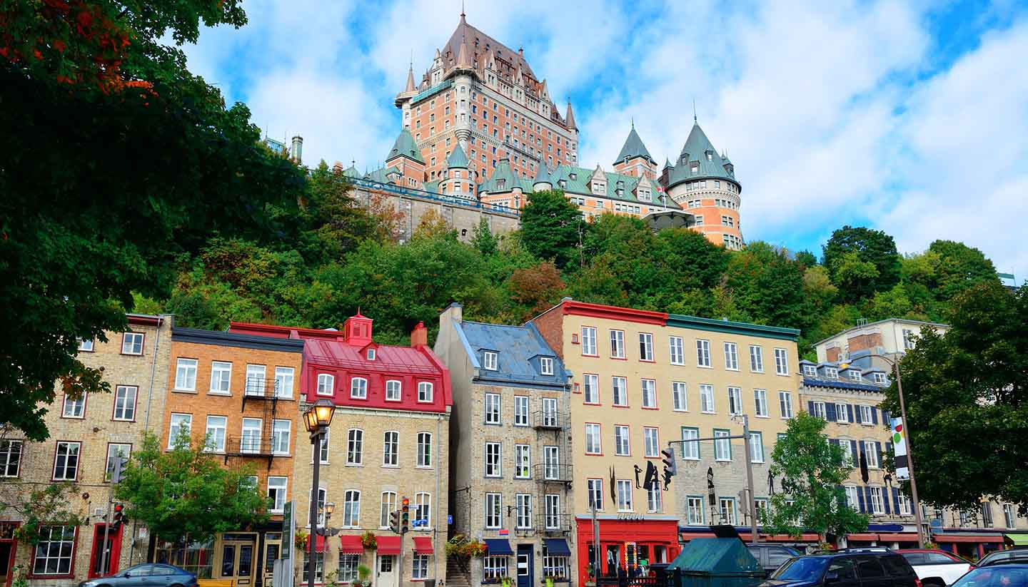 Quebec - Chateau Frontenac in the day