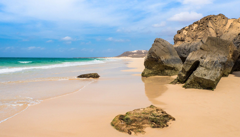 Kap Verde - Verandinha beach Praia de Verandinha  in Boavista Cape Verde