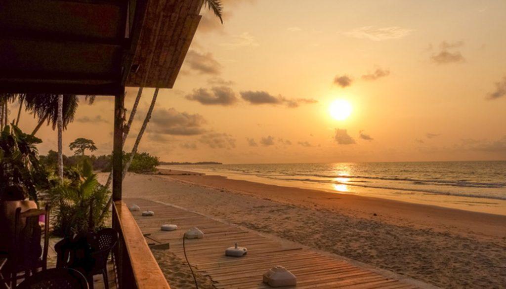 Äquatorialguinea - Bome beach sunset