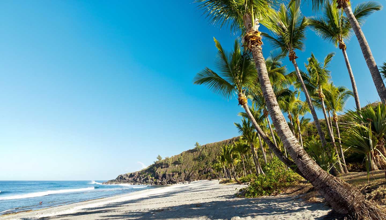 Réunion - Landscape view of Grande Anse Beach in Reunion Island