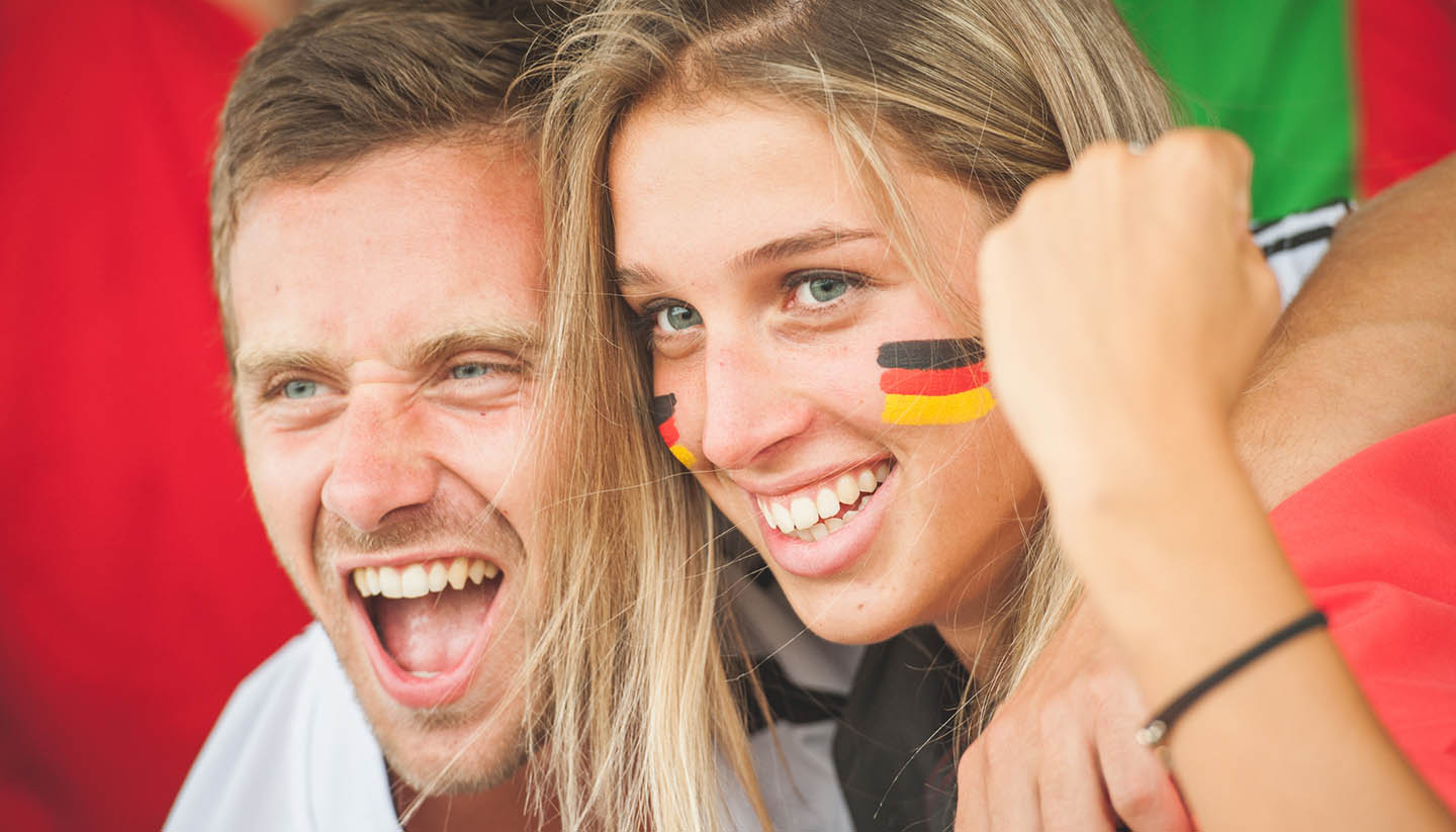 Deutschland - German Couple at Stadium