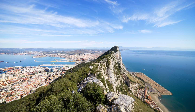 Gibraltar - Gibraltar Rock Bay and Town