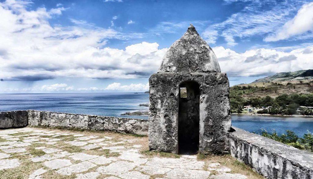 Guam - Old Spanish Fort overlooking the ocean in Guam