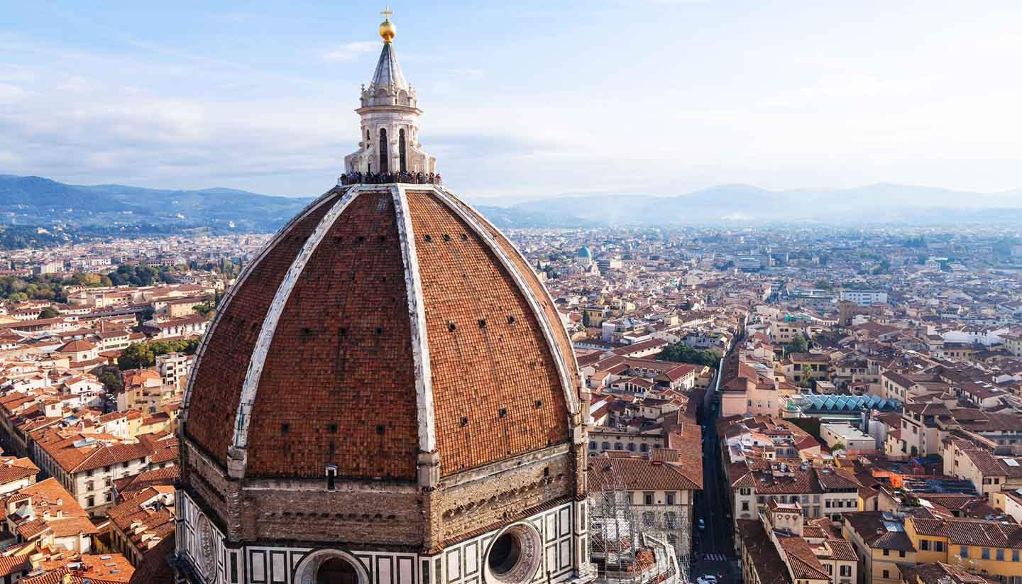 Florenz - view of Duomo and Florence city from Campanile