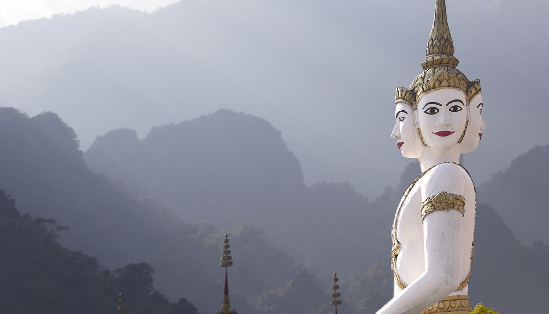 Laos - Temple sculpture Laos