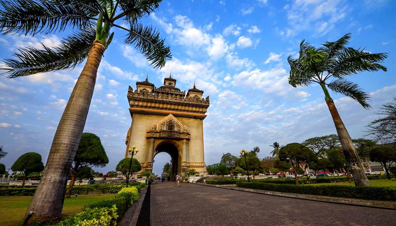 Laos - Patuxai arch monument in Vientiane