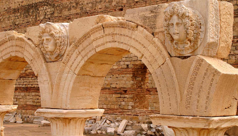 Libyen - Libya Tripoli Leptis Magna Roman archaeological site. - UNESCO site.