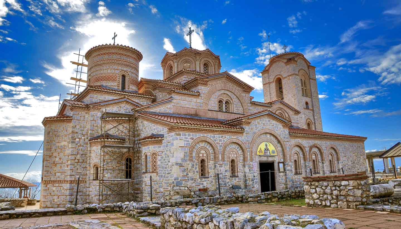 Mazedonien - Ohrid, Macedonia - St Pantelejmon – Plaosnik