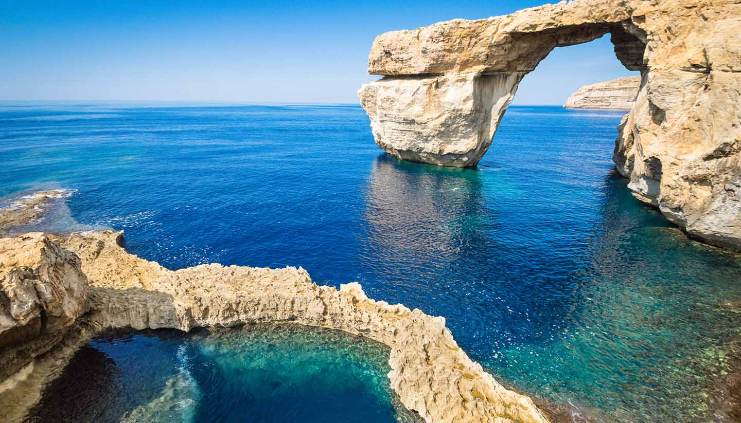 Malta - The world famous Azure Window in Gozo - Malta Island