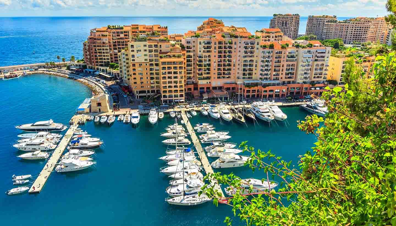Monaco - Luxury harbor and buildings in the lagoon,Monte Carlo,Monaco