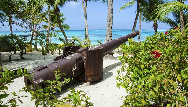 Pazifische Inseln von Mikronesien - Managaha Beach Cannon