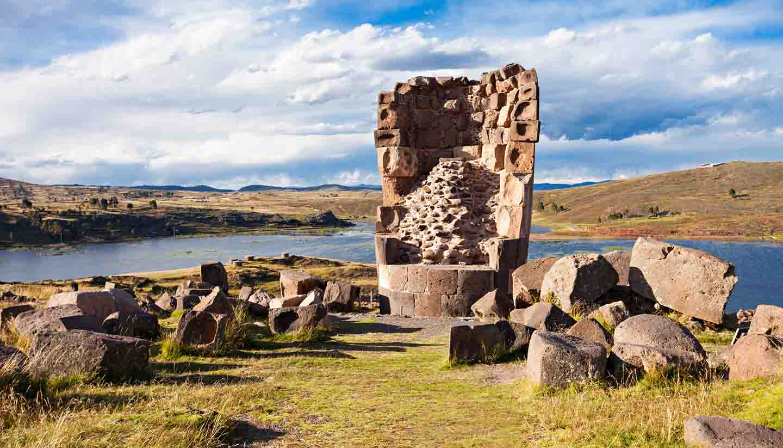 Peru - Sillustani, Umayo lake
