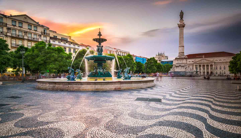 Portugal - Lisbon, Portugal City Square