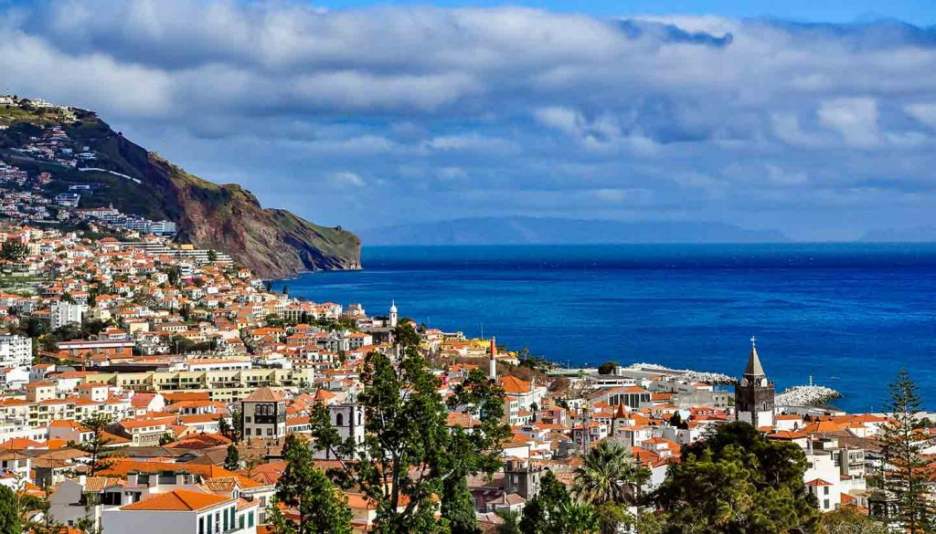 Madeira - Panoramic view of Funchal, Madeira, Portugal