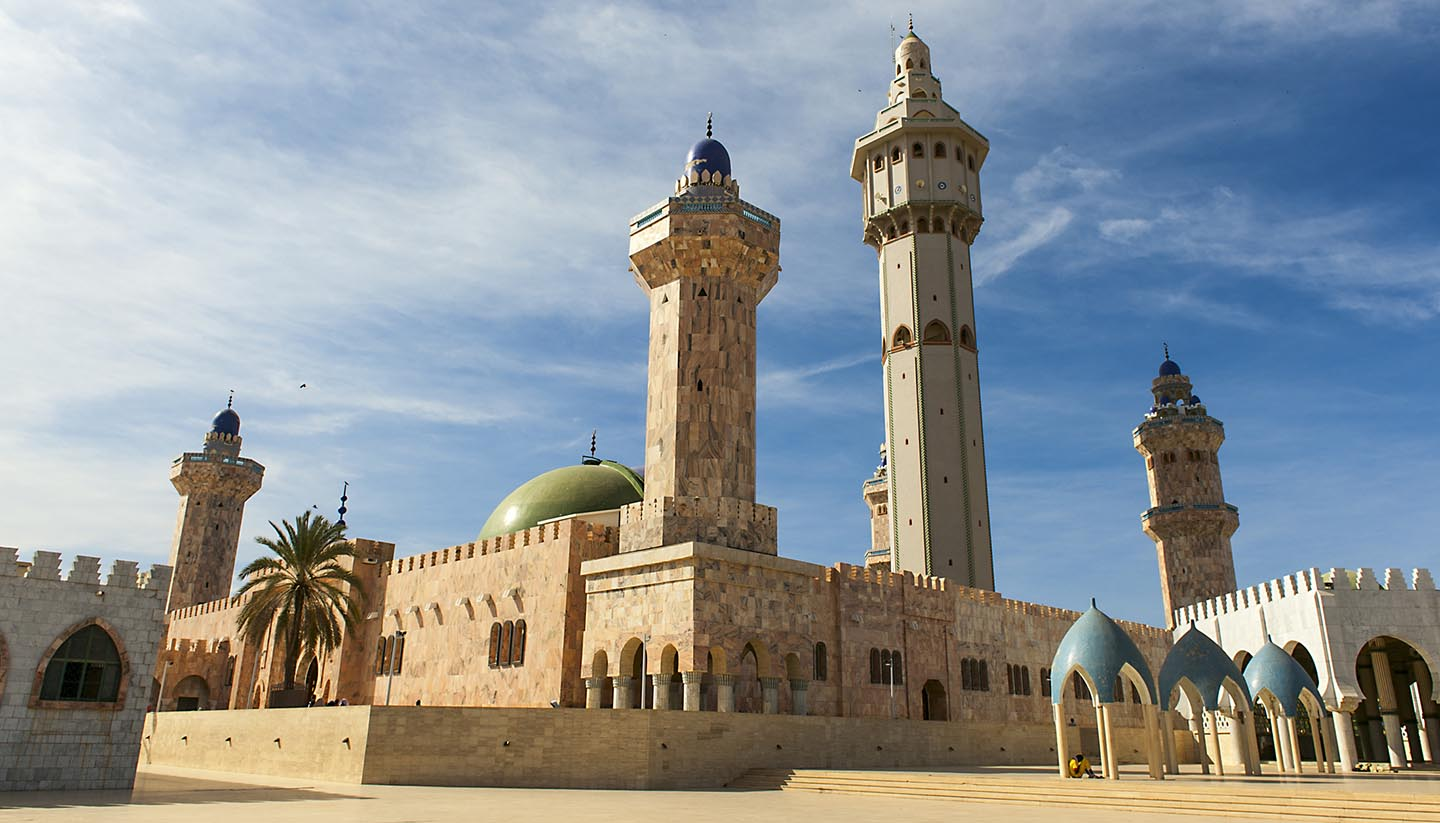 Senegal - A mosque on a clear and sunny day