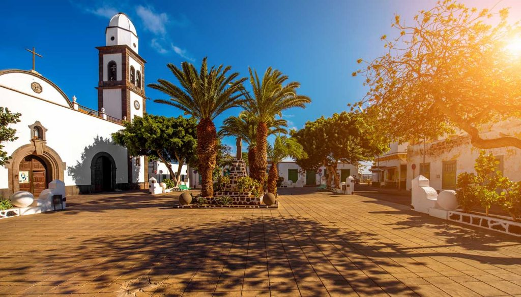 Kanarische Inseln - San Gines church in Arrecife city on Lanzarote island