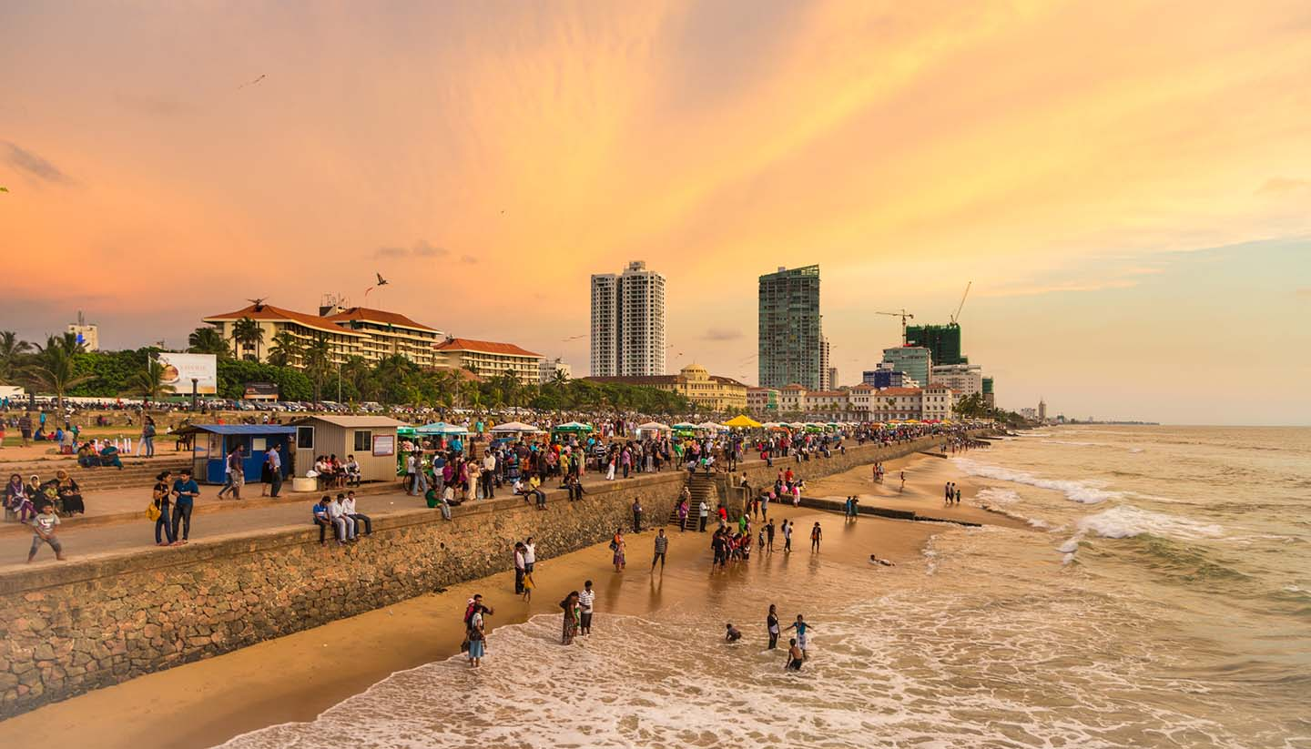 Sri Lanka - Colombo seafront at sunset