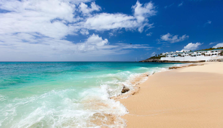 St. Maarten - Cupecoy beach on St Martin Caribbean