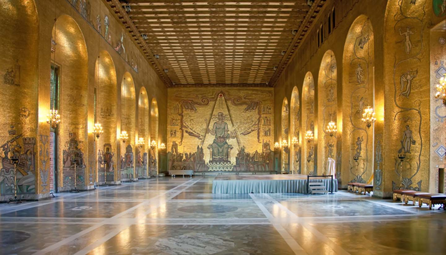 Stockholm - Town hall. Gold hall