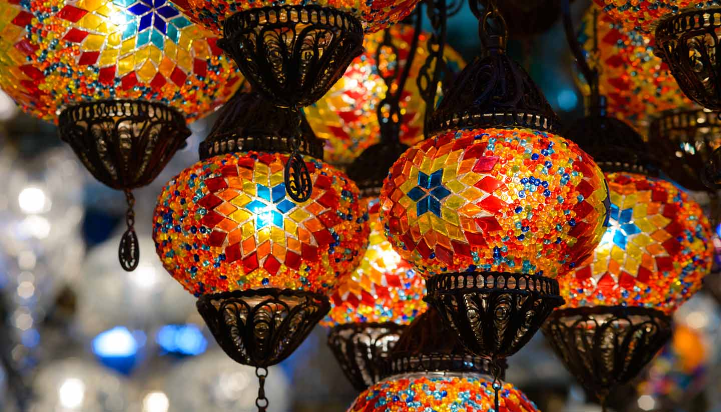 Türkei - Traditional turkish mosaic lanterns