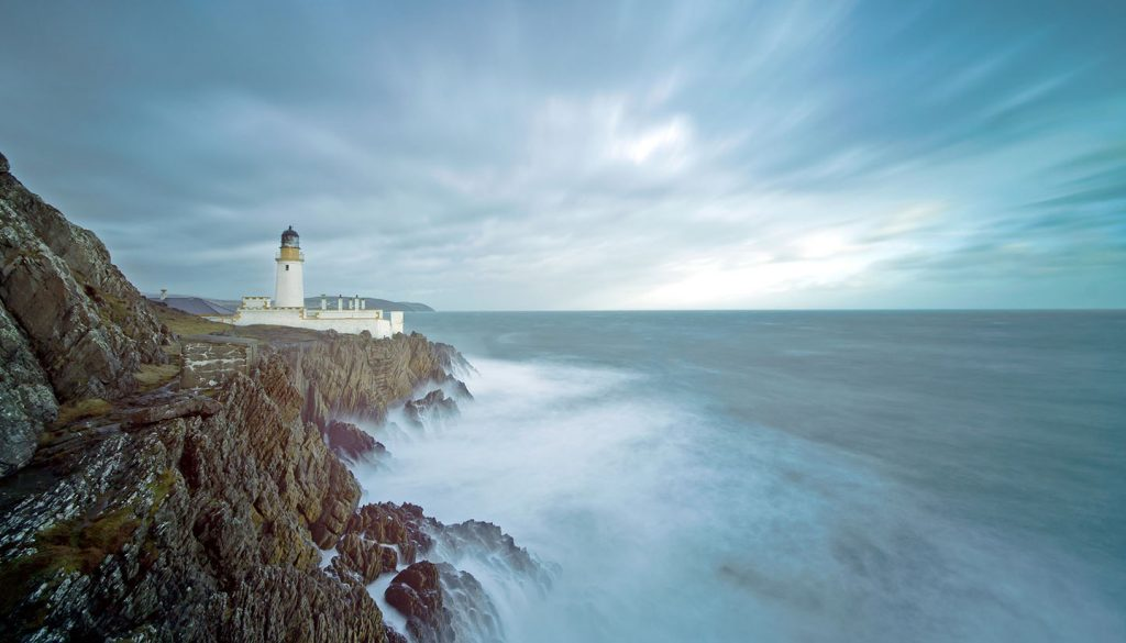 Isle of Man - Long Exposure Storm Sea Lighthouse Cliffs