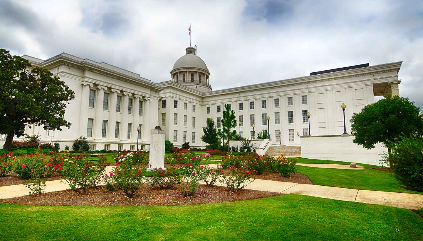 Alabama - View of state capitol in Montgomery, Alabama