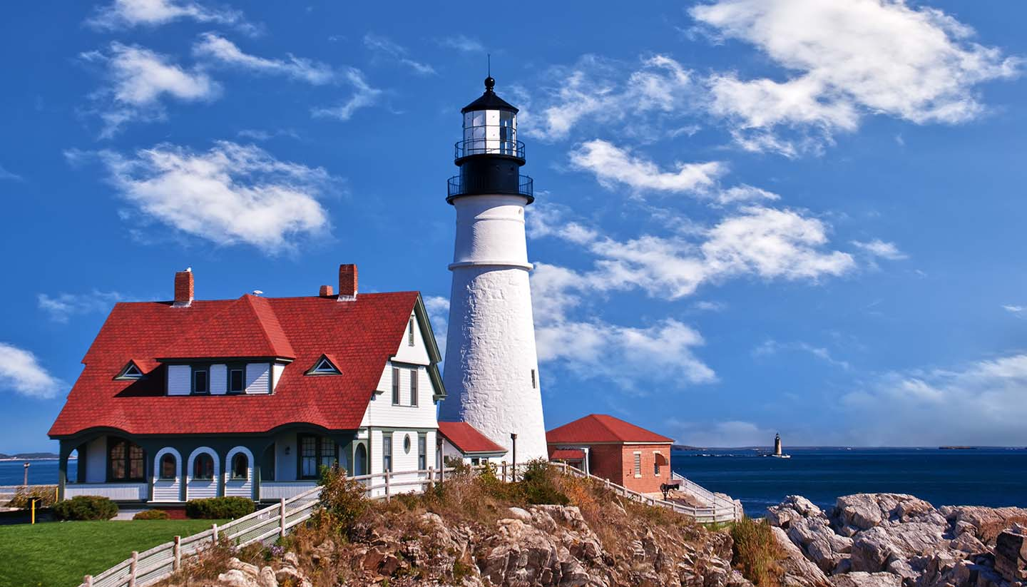 Maine - Photo of Portland Head Lighthouse at Cape Elizabeth, Maine