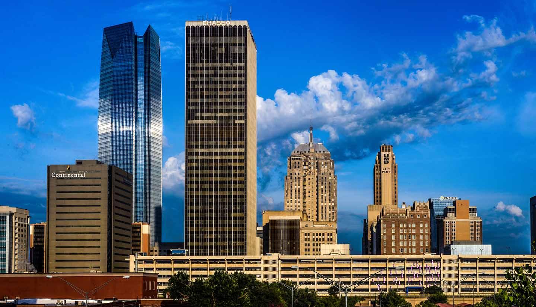 Oklahoma - Downtown Oklahoma City From Bricktown