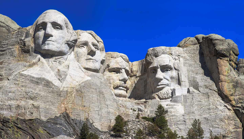 South Dakota - The four presidents at Mount Rushmore in South Dakota