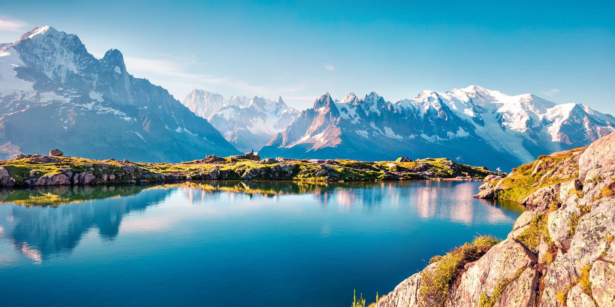 Schöne landschaftliche Kulisse im Naturreservat Vallon de Bérard, Grajische Alpen, Frankreich