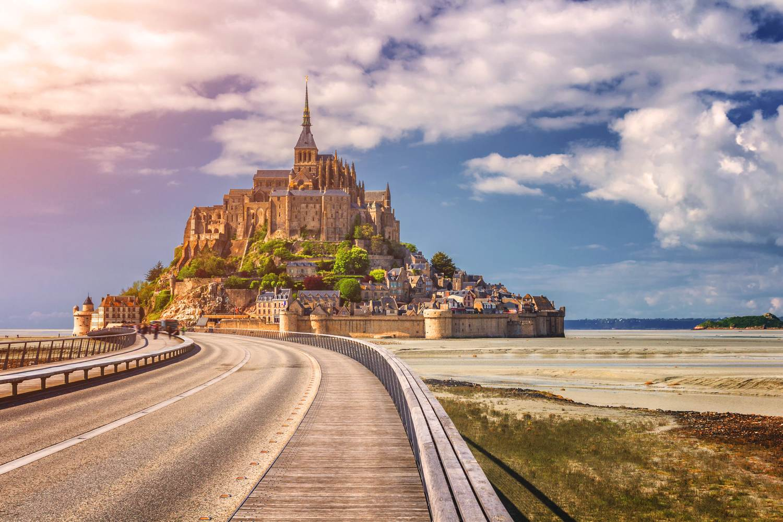 Wunderschöner Panoramablick auf Le Mont-Saint-Michel