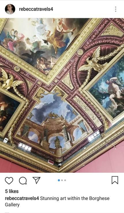 Schöne Kunst in der Galerie Borghese
