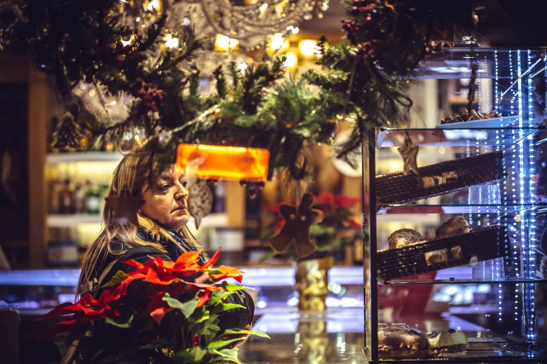 Ein Weihnachtsmarkt in Sevilla