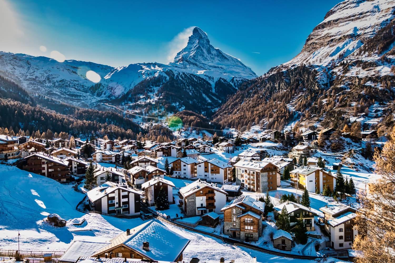 Aussicht mit dem Matterhorn im Hintergrund