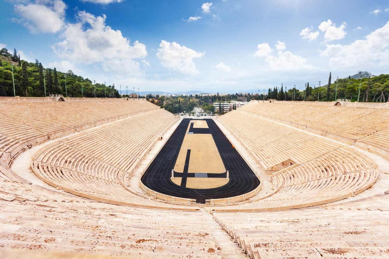 Ansicht des Panathinaiko-Stadions in Athen, Griechenland