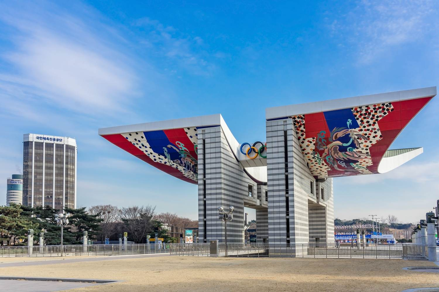 World Peace Gate im Olympiapark von Seoul