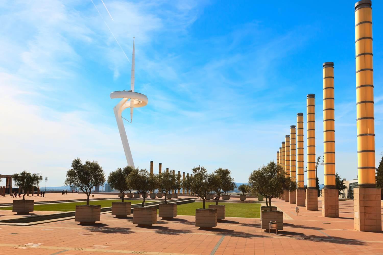 Torre Calatrava-Funkturm im Olympischen Dorf, Barcelona