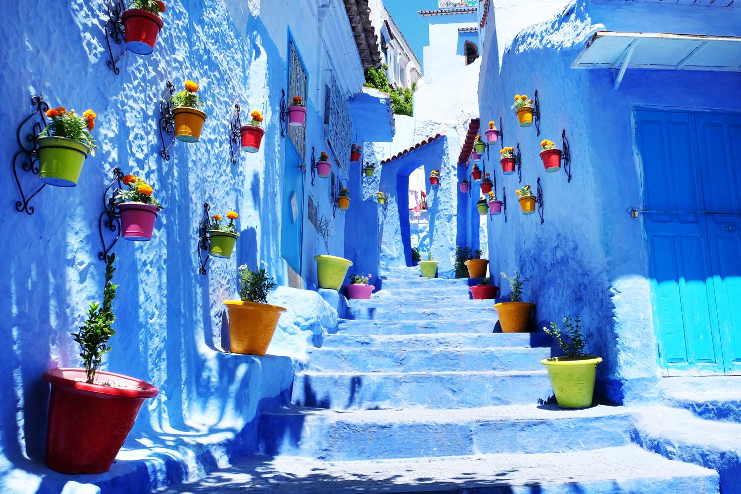 Traditionelle marokkanische Architektur in Chefchaouen