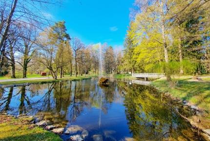 Ein Park in Bad Wörishofen